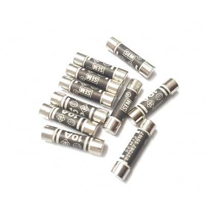 Household Fuses 10 Amp Domestic Pack Of 10 Cartridge Fuse Mains Plug 10A Ten NEW