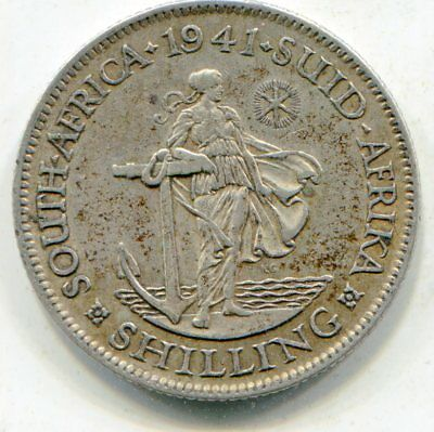 South Africa Shilling 1941 lotmar2733