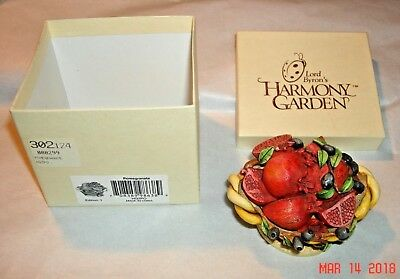 Lord Byron's Harmony Garden Harmony Kingdom POMEGRANATE Edition 1 Mint in Box