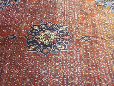AN ENCHANTING ANTIQUE HANDMADE BIDJAR PERSIAN RUG (303 x 237 cm)