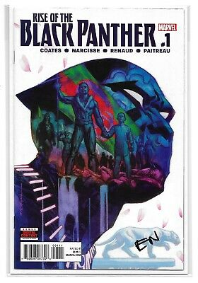 RISE OF THE BLACK PANTHER #1 - Signed by Evan Narcisse - NM - Marvel Comics!