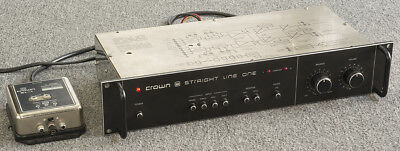 """CROWN STRAIGHT LINE ONE (SL-1) Stereo PREAMPLIFIER with """"C"""" Series Phono Module"""