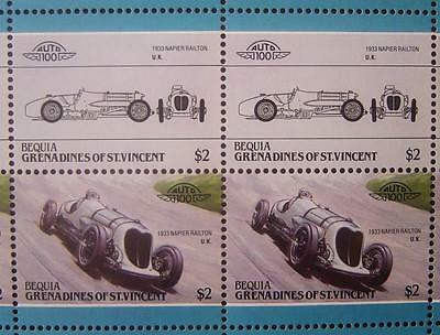 1933 NAPIER RAILTON Brooklands Car 50-Stamp Sheet Auto 100 Leaders of the World
