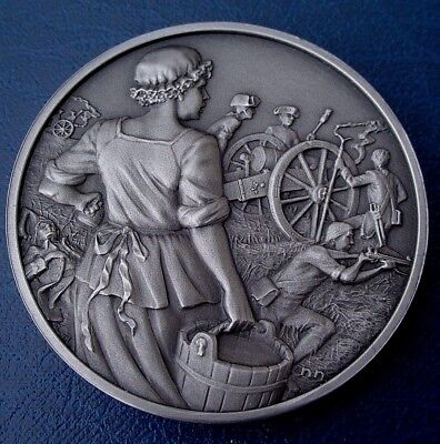 """+Great Women of the American Rev. DAR Medal - MARY LUDWIG HAYS, """"Molly Pitcher"""""""
