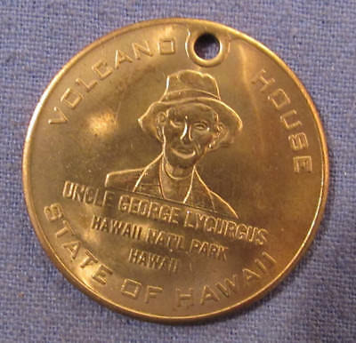Vintage Volcano House State Of Hawaii Madame Pele Token - Medal