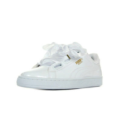 db2d380189ac8 Chaussures Baskets Puma femme Basket Heart Patent Wns taille Blanc Blanche