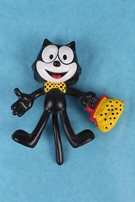 "Vintage 1989 Applause Felix The Cat 5"" Rubber Bendable Toy Figure"