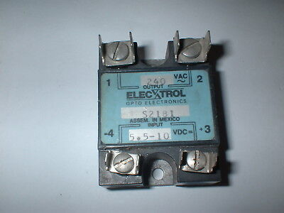 Electrol S2181 Solid State Relay  5.5-10VDC Input   240VAC 10A Output  BOX#22