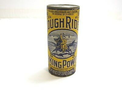 Near Mint Antique Rough Rider Baking Powder Never Opened Teddy Roosevelt Sealed!