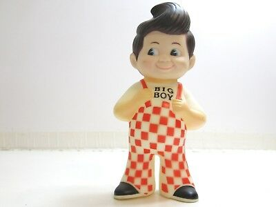 "Vintage Original 1973 Bobs Big Boy Hard Rubber 9"" Tall Bank Near Mint Condition"