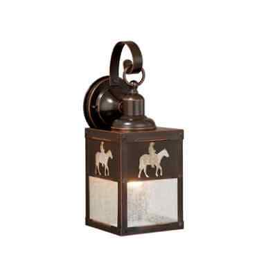 "Vaxcel Lighting T0110 Trail 1-Light 13""H Outdoor Sconce w/ Horse & Rider Accents"