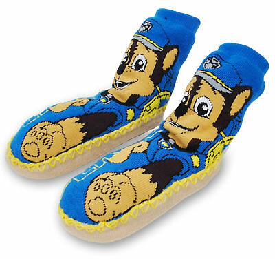 Toddler Boys Paw Patrol Slipper Socks with Grippers Size 3T-4T
