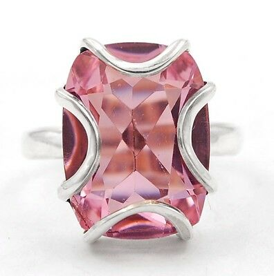 12CT Kunzite 925 Solid Sterling Silver Ring Jewelry Sz 5.5