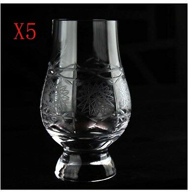New 5X Capacity 190ML Height 115MM Floral Print Wine Glass/Glassware %