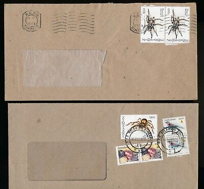 Zimbabwe 2003 SPIDERS used on Full Cover x3 S351