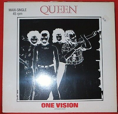"""Queen-One Vision (Extended Vision) Maxi-Single 12"""" (`85/EMI) -German Press-"""