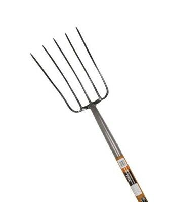 2 x New OSKA Multi-Purpose 5 Tyrne Pitch Forks with Fibreglass Handle