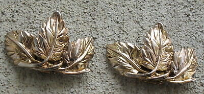 Vintage Musi Goldtone Jewelry Shoe Clips Patent No 3,460,211