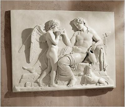 Gods of Love & Wine Ancient Greek Replica Wall Sculpture Bas-relief Frieze