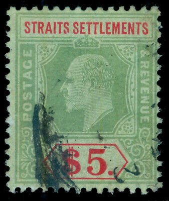 MOMEN: STRAITS SETTLEMENTS SG#167w 1909 USED ** INVERTED WMK **