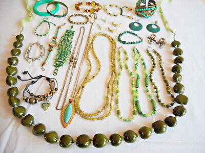 Lovely Mixed Lot of Vintage/Estate/Modern Costume Jewelry ALL WEARABLE 1+ Lbs