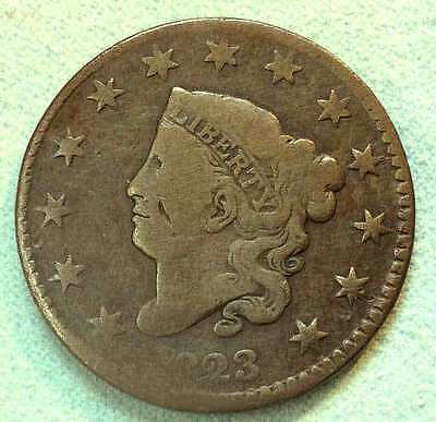 1823 Large Cent Normal Date The KEY Nice rs