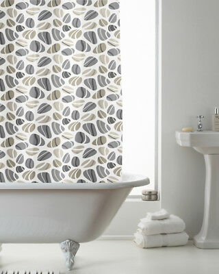 Country Club Shower Curtain 180x180 Pebbles Natural Neutral Subtle Nature Beige