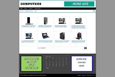 Computer Supply Store Website With Uk Affiliate & New Free Domain & Hosting