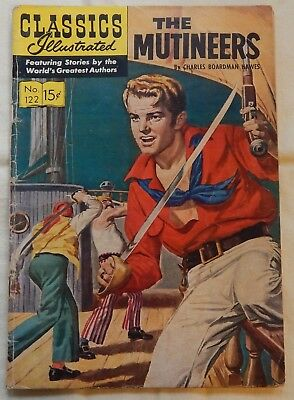 The Mutineers by Charles Boardman Hawes Classics Illustrated #122 September 1954