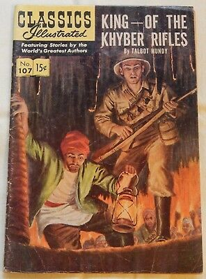 King of the Khyber Rifles by Talbot Mundy Classics Illustrated #107 May 1953