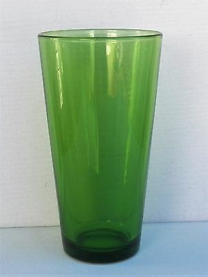 """Excellent Vintage Libbey Glass 16 Oz. 6¾"""" Tall In Clear Forest Green Colour"""