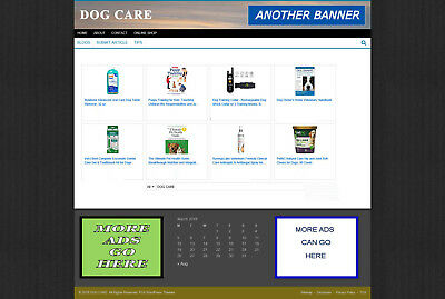 Dog Care Website & Uk Affiliate Store + Free Domain And Hosting Offer