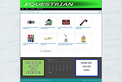 Horse Supplies Uk Affiliate Store Website + Hosting & New Free Domain Offer