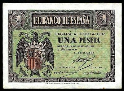 1 Peseta From Spain 1938 Unc  MM3