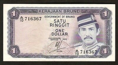 Brunei 1 Dollar 1972