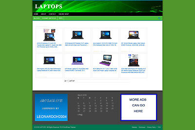 Laptop Computers Store Website With Uk Affiliate Option & Free Domain + Hosting