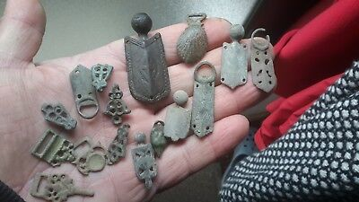 Handful Of Medieval To 1600s Clothing Fasteners
