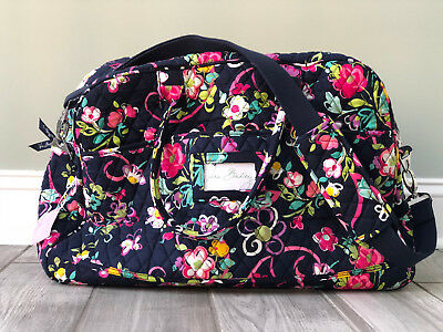 Vera Bradley Grand Traveler Large Tote Bag in RIBBONS pattern *New With Tag*