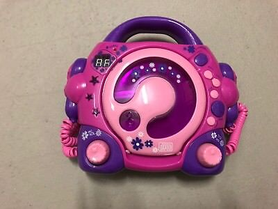 Kinder CD-Player, pink, mit Mikrofon