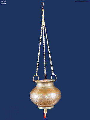 1 Liter antik Messing Ayurveda Shirodhara gefäß Dhara Vessel brass pot No/eb21