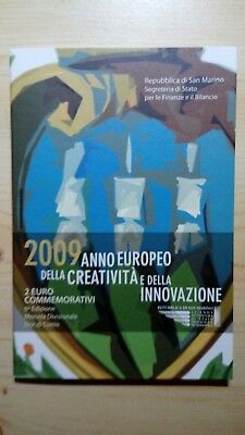 San Marino 2 Euro Münze 2009 im Original Folder, unangetastet,   Innovation