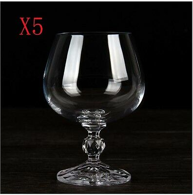 New 5X Capacity 250ML Height 115MM High Foot Brandy Wine Glass/Glassware %