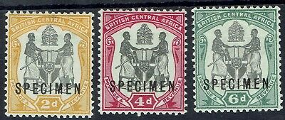 British Central Africa 1897 Arms Specimen 2D 4D And 6D