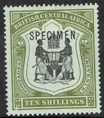 British Central Africa 1897 Arms Specimen 10/-