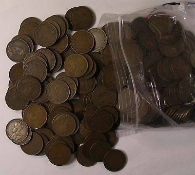 250 CANADA King George V Large Cents 1911 to 1920 GOOD PLUS COIN lot