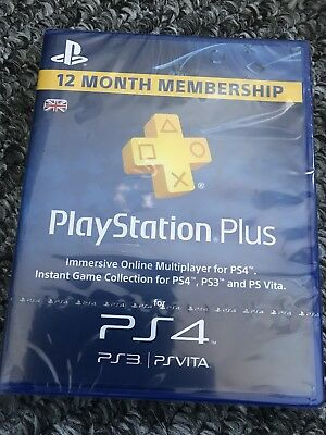 playstation plus 12 months (New &sealed)