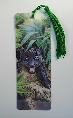 3-D Lenticular Bookmark  ( B. Panther)