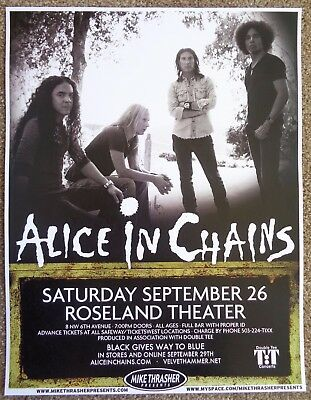 ALICE IN CHAINS 2009 Gig POSTER Portland Oregon Concert