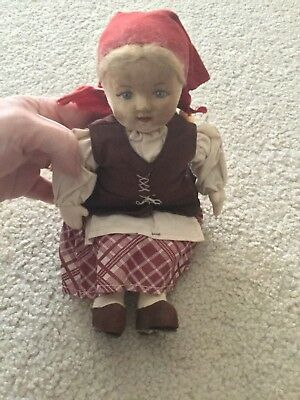 VINTAGE MADE IN SOVIET UNION HAND MADE DOLL & CLOTHING Peasant Woman