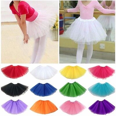 Hot Ballet Tutu Princess Dress Dance Wear Costume Party Girls Toddler Kids Skirt